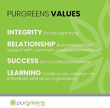 Purlife Cafe Values